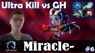 Miracle - Queen of Pain MID | Ultra Kill vs GH (Lina) | Dota 2 Pro MMR  Gameplay #6