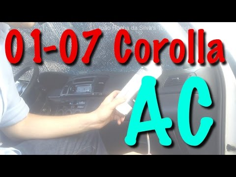 2001-2007 Toyota Corolla: Replacing Air Conditioner / Cabin Filter + Air Duct Cleaning