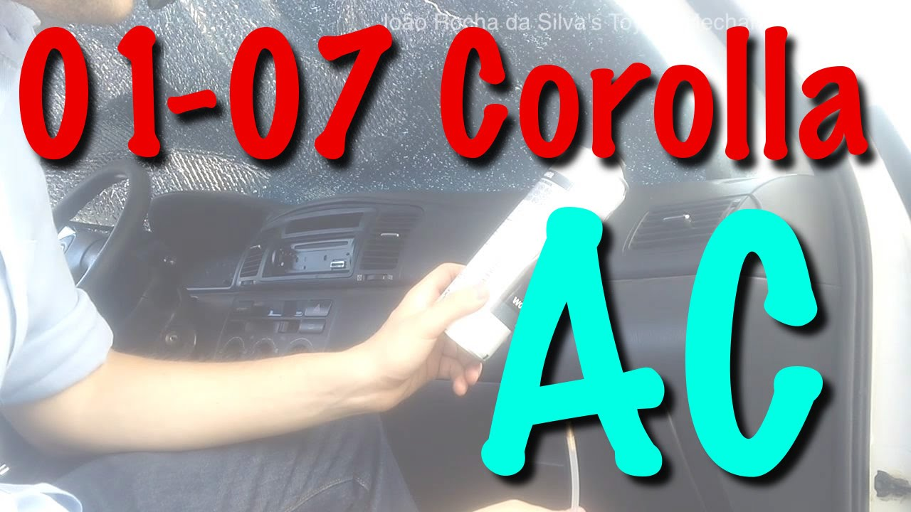 small resolution of 2001 2007 toyota corolla replacing air conditioner cabin filter air duct cleaning youtube