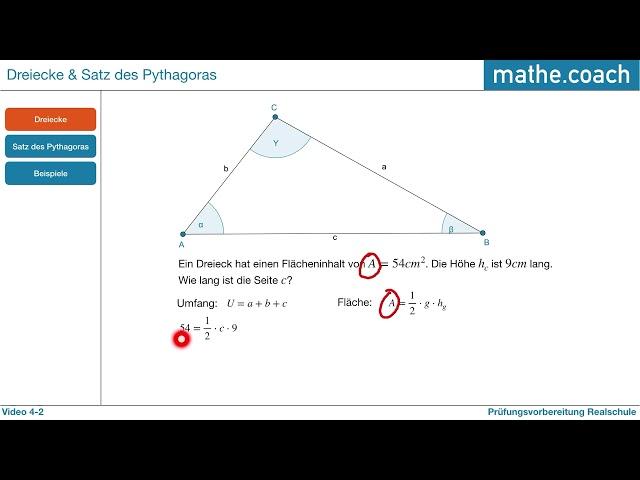 Dreiecke und Satz des Pythagoras