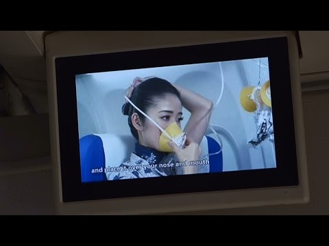 (HD) China United Airlines - Flight Safety Demonstration Video B737-800 RARE