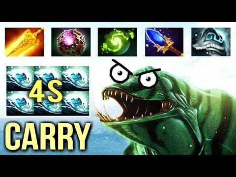 IMBA 4s Gush Tidehunter Carry with Radiance OC Troll Build by Draskyl New Meta Gameplay Dota 2