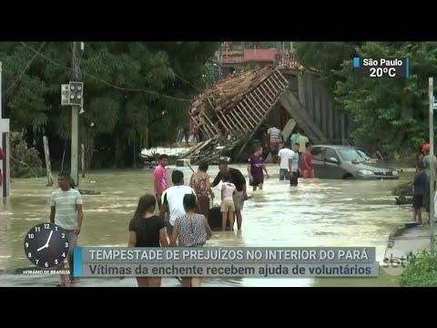 No Pará, população sofre com prejuízos causados por enchentes   SBT Brasil (20/04/18)