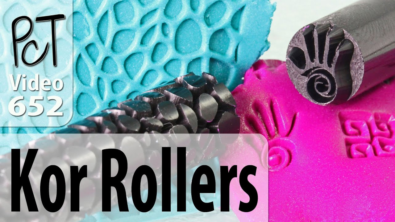 Polymer Clay Pattern Rollers Amp Stamps From Kor Tools Youtube