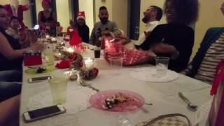 First Christmas Dinner in Dubai with crazy Scandinavian Santa Princess Tower Marina