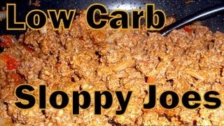 Atkins Diet Recipes: Low Carb Sloppy Joes (if)