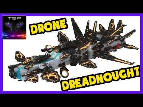 DRONE The Game ► Vehicle Builder Preview - Massive Dreadnought Build!