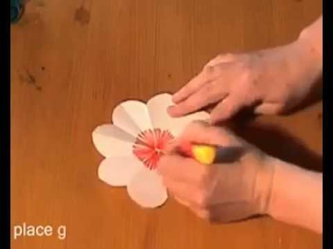 การทำการ์ด popup(รูปดอกไม้สำหรับวันแม่)  ครูโอ๋อ้วน