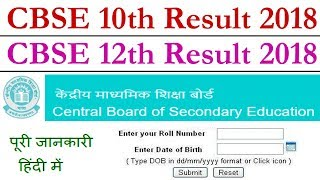 CBSE 10th 12th Result 2018 Date Time at cbse.nic.in or cbseresults.nic.in