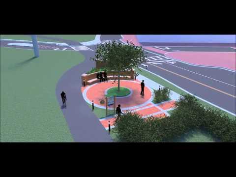 Draft W&OD Trail Plazas in Falls Church, VA