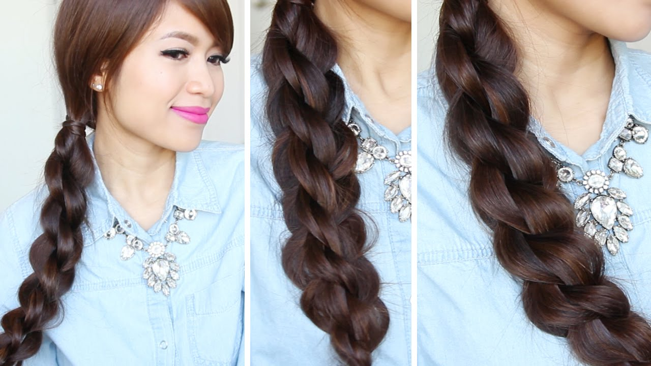 3D Split Twist Braid Tutorial Easy Braided Hairstyles