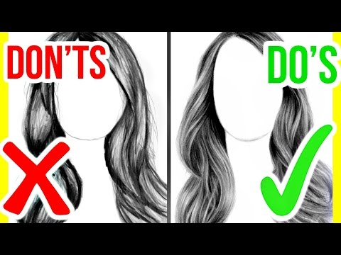 DO S & DON TS: How to Draw Realistic Hair | Step by Step Drawing Tutorial