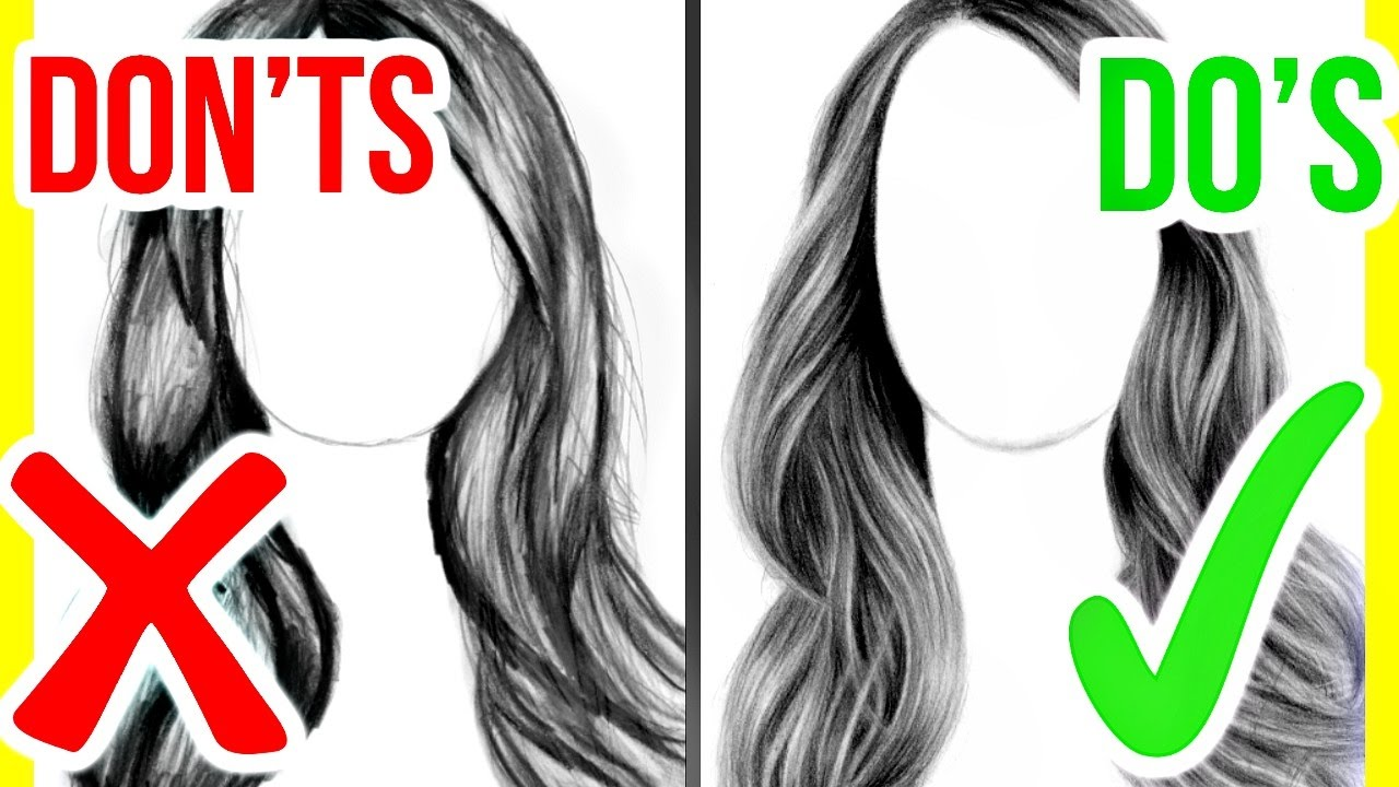 dos amp donts how to draw realistic hair step by step