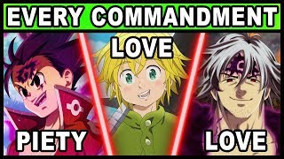 Every Character's Commandment Explained! (Seven Deadly Sins / Nanatsu no Taizai)