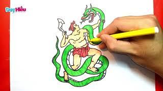 Vẽ truyện cổ tích Thạch Sanh - Vẽ Thạch Sanh - Vẽ tranh Thạch Sanh - Duy Hiếu