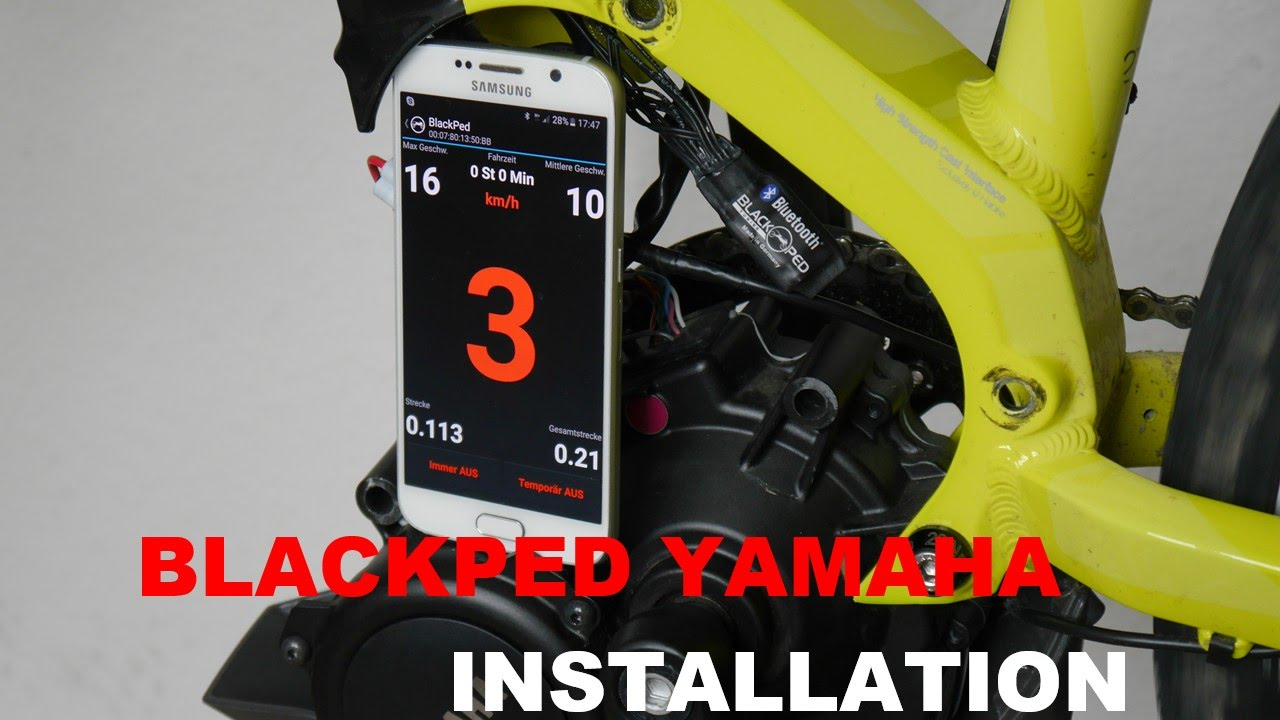 tuning blackped yamaha haibike installation youtube. Black Bedroom Furniture Sets. Home Design Ideas