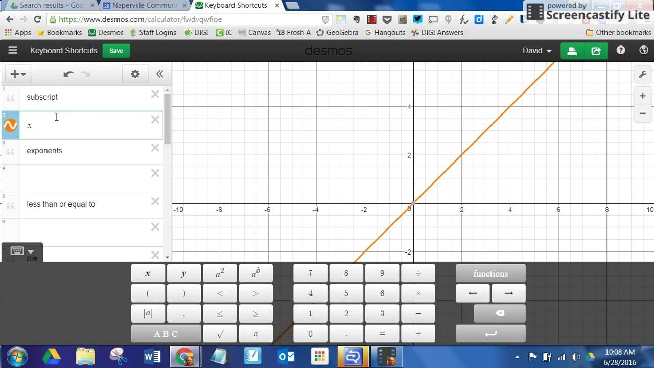 Desmos Keyboard Shortcuts Youtube