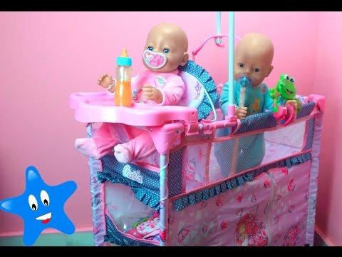 Cuna trona armario y cambiador para los mu ecos beb s bruno y abril baby born youtube - Cambiador bebe para cuna ...