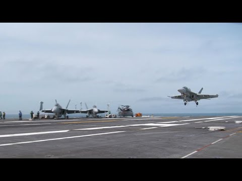 Rare look at U.S.-French joint training aboard USS George H.W. Bush
