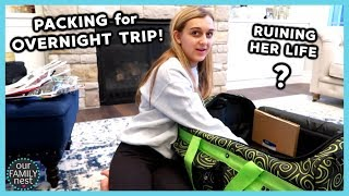 PACKING FOR OVERNIGHT TRIP! RUINING MY TEENAGER'S LIFE!!
