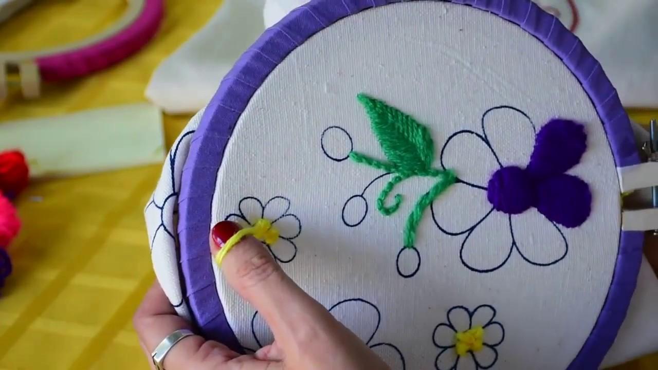 8 como hacer punto nudo frances paris o rococo para - Como hacer punto de lana para principiantes ...