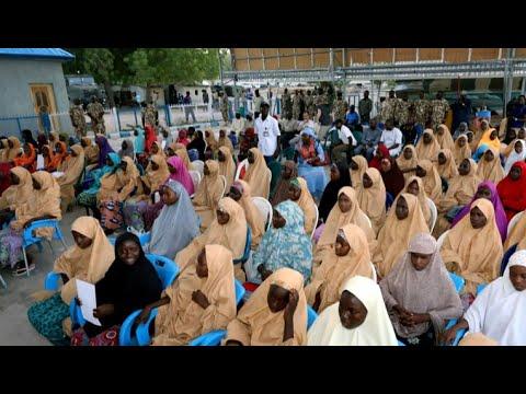 Boko Haram frees nearly 110 captured schoolgirls in Nigeria