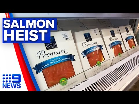 Factory staff charged in alleged $4 million salmon theft | 9 News Australia thumbnail