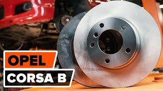 Como substituir os discos de travões dianteiros e as pastilhas de travão dianteiras no OPEL CORSA B