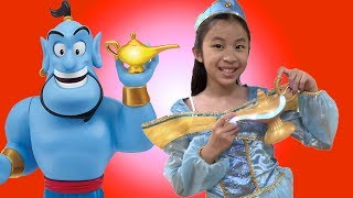 Pretend Play Disney Aladdin Genie Lamp Wishes Come True