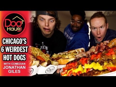 CHICAGO'S 6 WEIRDEST HOT DOGS with Comedian Jonathan Giles from YouTube · Duration:  15 minutes 36 seconds