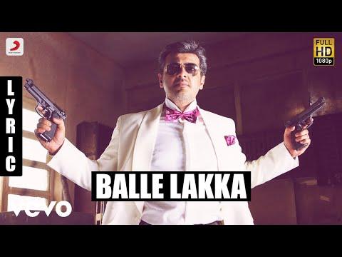 Mankatha - Balle Lakka Tamil Lyric | Ajith Kumar, Trisha | Yuvan