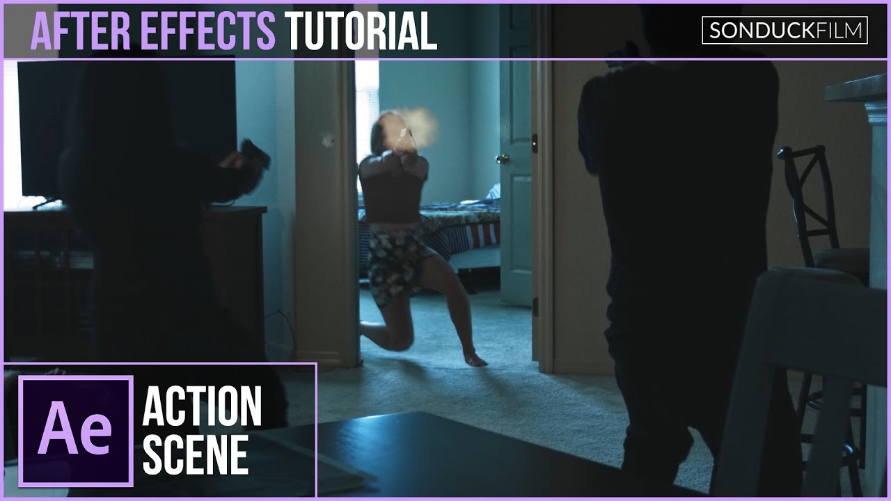 After effects advanced cinematic gunshot tutorial.