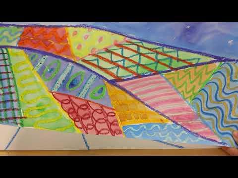 Mixed Media Folk Art Landscape- Lesson 1