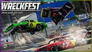INSANE NASCAR DEMO DERBY!   Wreckfest   NASCAR Legends Mod