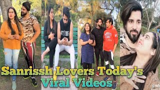 Sandhya Rissh and Sanrissh Lovers Today's Viral Videos||Couple Goals 🥰🤩😚🤟😄