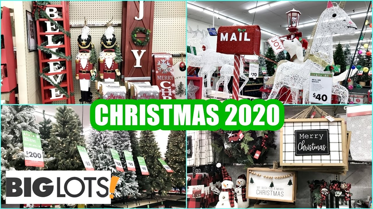 Biglots Deals On Christmas Decorations 2020 BIG LOTS CHRISTMAS 2020 SHOP WITH ME CHRISTMAS DECOR ORNAMENTS