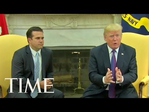 Donald Trump: 'I Give Ourselves A 10' On Response To Puerto Rico Hurricane | TIME
