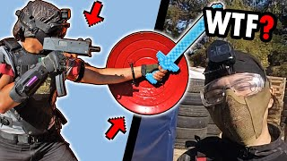 Los destruyo con mi ESPADA de DIAMANTE❗️ 😱 ▬ 54 KILLS 💀 ▬ Airsoft Gameplay