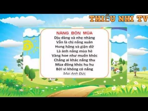 Bài thơ Nắng Bốn mùa - Bai tho nang bon mua - Thiếu nhi TV