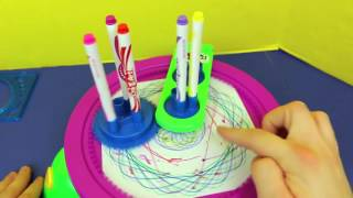 Cra-Z-Art ❤ Fun Spin Art Maker ❤ Cra-Z-Spiro Spinning Art Stencils \u0026 Color Designs Toy Review