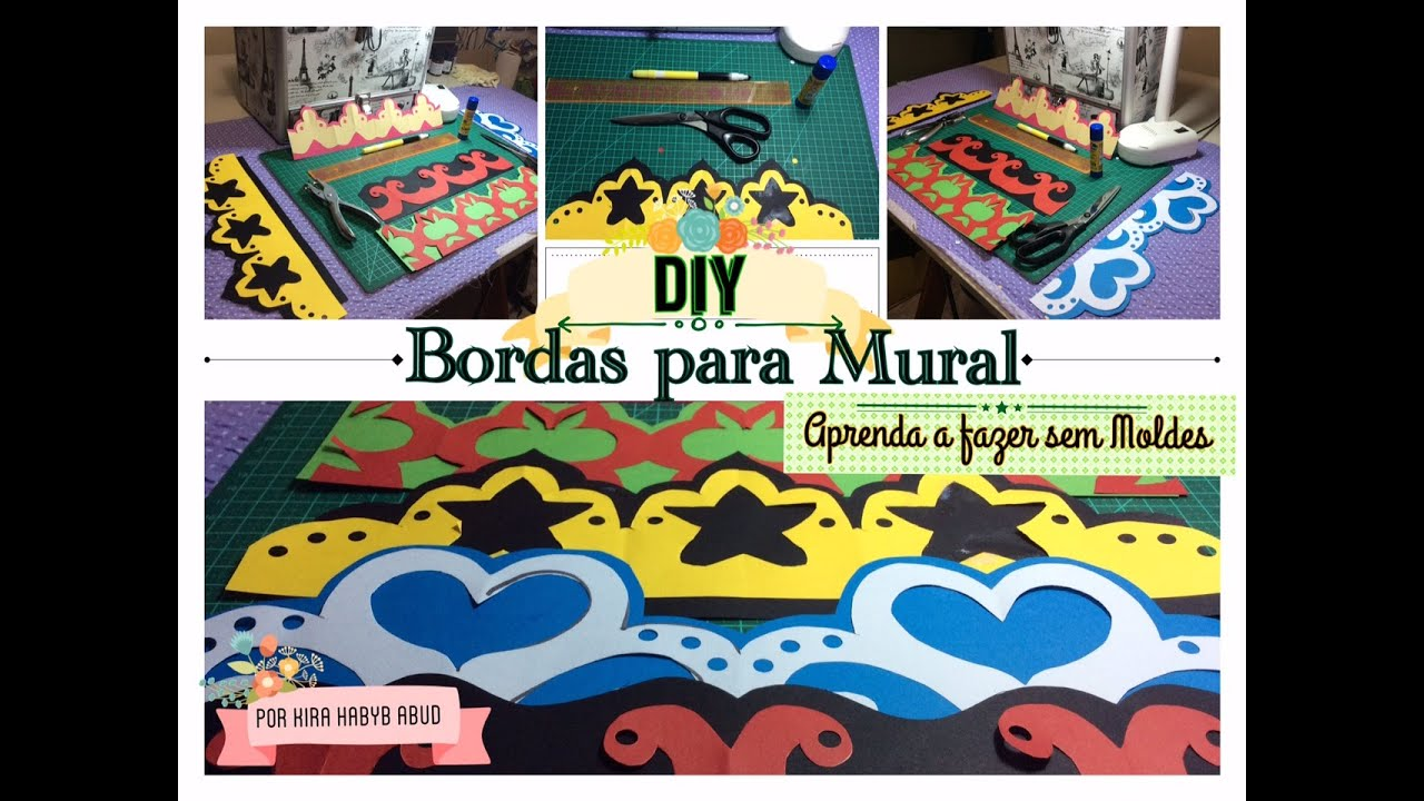 Como fazer bordas para mural sem moldes youtube for Como quitar papel mural