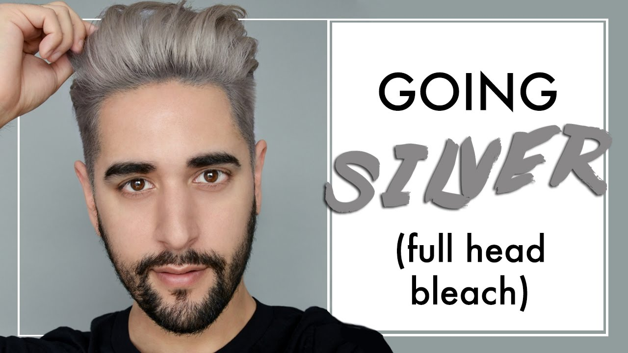 Going Silver Grey Men S Hair Full Head Bleach And Tone