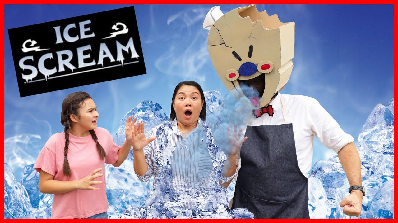 Ice Scream Man🍦จับตัวแม่ผึ้งไป ทำยังไงดี?!! (ไอศครีมแมนในชีวิตจริง)