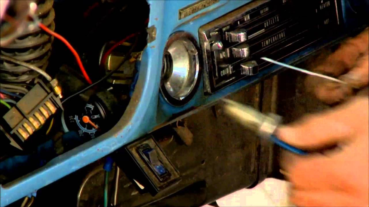 47 72 Chevy Gmc Truck Ignition Lock Cylinder Removal How To Youtube 1972 Wiring Harness