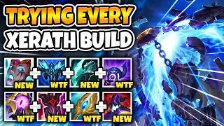2 HOURS OF EVERY POSSIBLE XERATH BUILD! WHICH ONE IS THE BEST?? - League of Legends