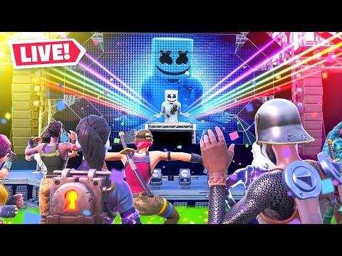 Fortnite Marshmello Event LIVE CONCERT Happening NOW! thumbnail