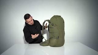 Helikon Summit Backpack Rolltop Hiking Travel Pack Army MOLLE Rucksack 40L Black