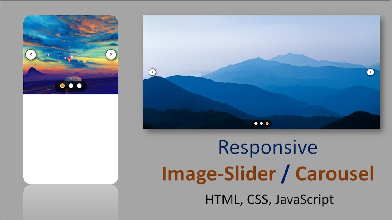 Image slider in HTML, CSS and, JavaScript || Carousel in HTML, CSS, and, JavaScript