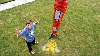 LAUNCHING a GIANT ROCKET!