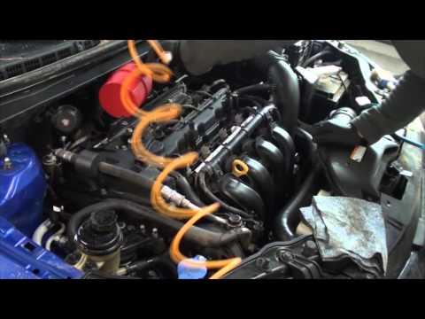 как помыть двигатель киа церато